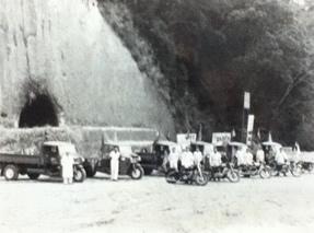 1945年頃の三輪自動車(オート三輪)展示会 有村モータース 大隅ダイハツ